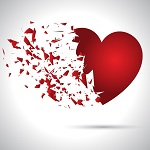 broken heart valentine background 1048 4957
