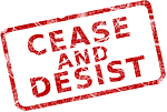 cease and desist stamp